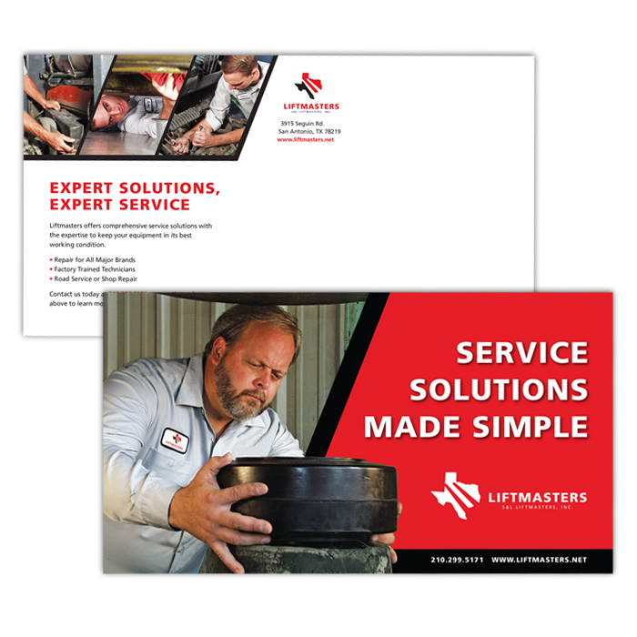 forklift dealer service support postcard